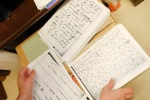 ナイチンゲールに直筆の手紙類の一部(ナイチンゲール研究所所蔵)