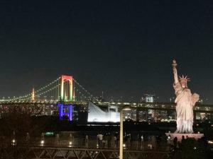レインボーブリッジ,自由の女神,夜景